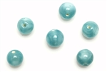 "Bead, Czech, Vintage, Glass, ""Silk"" Lampwork Beads, 9MM, Teal"