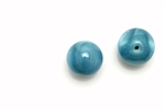 "Bead, Czech, Vintage, Glass, ""Silk"" Lampwork Beads, 12MM, Teal"