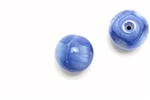 "Bead, Czech, Vintage, Glass, ""Silk"" Lampwork Beads, 15MM, Blue"