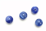 "Bead, Czech, Vintage, Glass, ""Silk"" Lampwork Beads, 10MM, Blue"