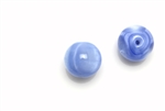 "Bead, Czech, Vintage, Glass, ""Silk"" Lampwork Beads, 12MM, Light Blue"