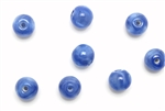 "Bead, Czech, Vintage, Glass, ""Silk"" Beads, 8MM, Blue"