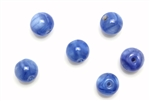 "Bead, Czech, Vintage, Glass, ""Silk"" Lampwork Beads, 9MM, Blue"