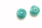 "Bead, Czech, Vintage, Glass, ""Silk"" Beads, 12MM, Light Green"