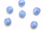 "Bead, Czech, Vintage, Glass, ""Silk"" Lampwork Beads, 9MM, Light Blue"