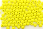 Bead, Vintage, Japanese, Round, Glass, 6MM, Yellow