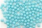 Bead, Vintage, Japanese, Round, Glass, 6MM, Light Blue