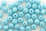 Bead, Vintage, Japanese, Round, Glass, 8MM, Light Blue
