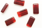 Bead, Glass, Vintage Japanese, 16MM, Rectangle, Ruby