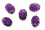 Bead, Austrian Acrylic, Vintage, 22MM, Oval Nugget, Purple