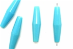 Bead, German Acrylic, Vintage, 38MM, Hair Pipe Tube, Light Blue