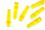 Bead, Czech, Pillar, Tube, Glass, 28MM, Yellow
