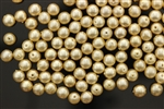 Bead, Glass Pearl, 6MM, Vintage, Japanese, Golden Beige