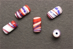 Bead, 13MM, Tube, Glass, Vintage Japanese, Mixed Color