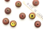 Bead, 10MM, Round, Lampwork, Vintage Japanese, Mixed Color