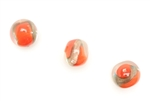 Bead, Lampwork, Glass, Vintage, Czechoslovakian, 14MM, Crystal Red Copper Fleck