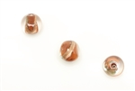 Bead, Lampwork, Glass, Vintage, Czechoslovakian, 12MM, Crystal Brown Copper Fleck