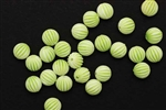 Bead, German Acrylic, Vintage, 8MM, Round, White, Green