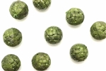 Bead, German Acrylic, Vintage, 14MM, Round, Olive