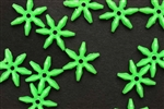 Bead, German Acrylic, Vintage, 18MM, Star, Green