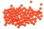 Bead, German Acrylic, Vintage, 5MM, Round, Red Orange