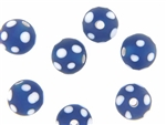 Skunk Trade Bead / 14MM Round Matte Light Blue