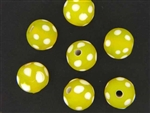 Skunk Trade Bead / 14MM Round Matte Yellow
