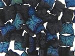 Czech Butterfly Beads / 15MM Matte Jet AB