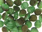 Czech Ladybug Beads / 11mm Matte Green Bronze Metallic