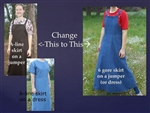 Change A-line skirt to 6 Gore skirt on Ladies Jumpers or Dresses