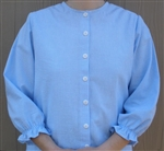 Ladies Classic Blouse Light Blue Check Seersucker size 8
