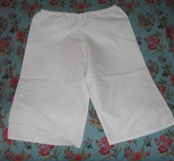 Girl Bloomers White Muslin XS 3 4 5