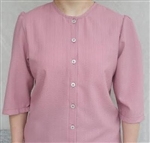 Ladies Blouse Classic Button Rose polyester size 22