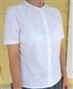 Ladies Blouse Classic Button White Seersucker cotton size 16 Tall