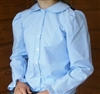 Ladies Blouse Classic Button Periwinkle Blue Gingham cotton size 6