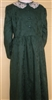 Girl Classic Dress Dark Green Floral size 10 X-long