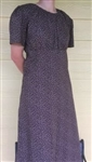 Ladies Dress Regency Mauve Batik Cotton M 10 12 Petite