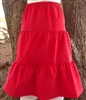 Girl Tiered Skirt Red Corduroy cotton size XS 4 5