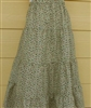 Girl Tiered Skirt Green Floral size M 8 10