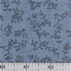 Lavender Floral Polyester /cotton Fabric 1/2 yard