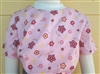 Girl Blouse Knit Cotton Pink Floral size 6
