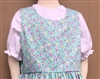 Girl Peasant Blouse Green Check Seersucker cotton size 5