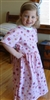Girl dress cotton knit Pink Floral size 5