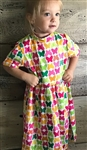 Girl dress cotton knit Butterflies size 6