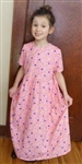 Girl dress cotton knit Pink Garden floral size 8
