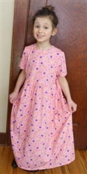Girl dress cotton knit Pink Garden floral size 2