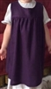 Girl Pinafore Jumper Purple Linen Rayon size 5 6 7