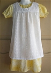 Girl Pinafore Jumper White Eyelet Lace size 2 3 4