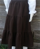 Girl Tiered Skirt Crushed Cotton Chocolate size M 8 10