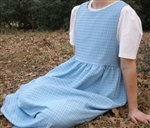 Ladies Jumper with Gathered Skirt Blue Crinkle M 10 12